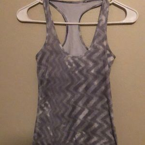 Grey racer back tank top lululemon